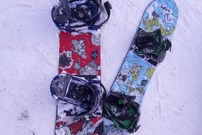 snowboard con i bambini