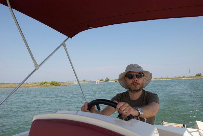 Laguna in barca