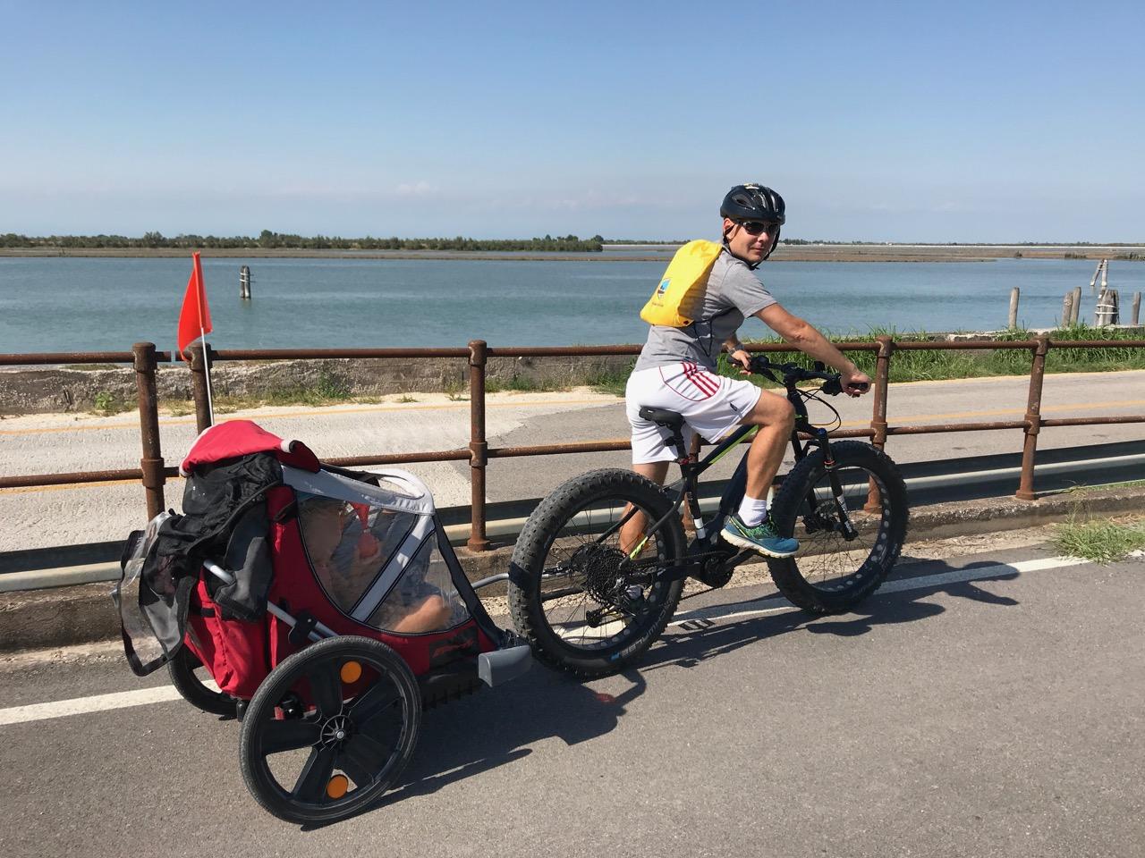 laguna in bicicletta