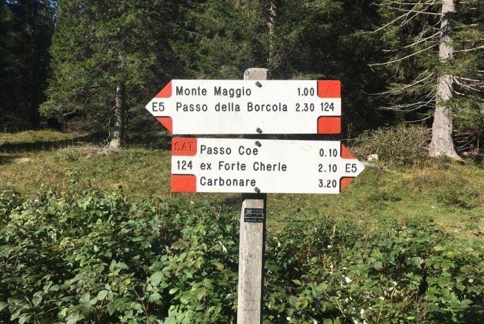 Monte Maggio segnaletica