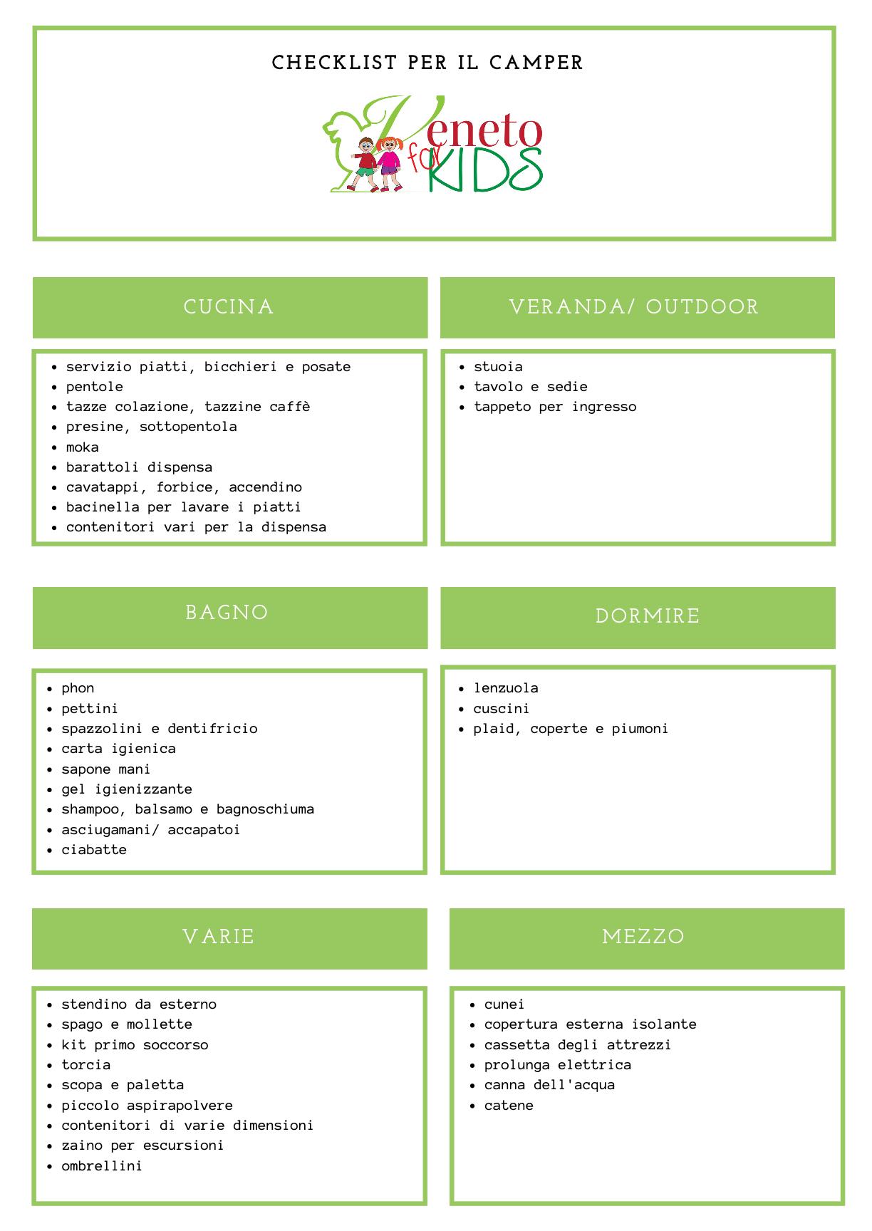checklist scaricabile